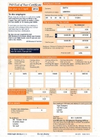 HMRC P60 2013/14 Orange Portrait