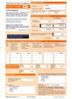 HMRC P60 2015/2016 Orange Portrait