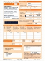 HMRC P60 2016/2017 Orange Portrait