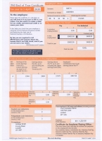HMRC P60 2019-2020 Orange Portrait